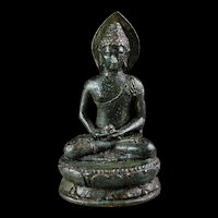 Superb Quality Borobudur bronze figure of Buddha, 8th. cent AD.