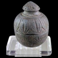 Rare Gandhara Lidded Buddhist reliquary jar or Box, ca. 1st. cent BC
