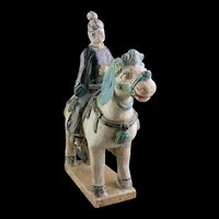 Rare Chinese Female pottery rider Ming Dynasty, 1368-1644!