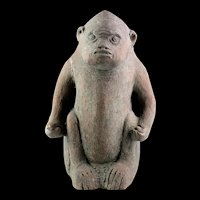 Massive Important Indonesian Majapahit pottery sculpture of Monkey, 13th.-14th. cent
