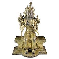 Superb Quality massive Gilt Sino-Tibetan Buddhist bronze Tara!