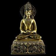 Large superb Quality Inscribed Nepalese Gilt bronze Bodhisattva - Gem!