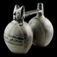 Large and exceptional Pre-Columbian Inca blackware Vessel!