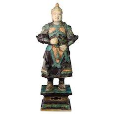 Museum Quality Ming Dynasty Tomb pottery warrior w Sword, 82-84 cm