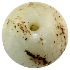 Rare large Chinese Nephrite Jade Bead, pre Han Dynasty