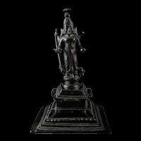 Fine bronze figure of standing Vishnu, South India, ca. 18th. cent.
