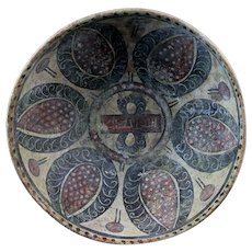 Attractive larger Islamic pottery bowl, ca. 10th.-11th. century