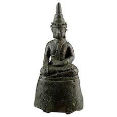 Rare Ava period Burmese bronze buddha, 1364-1555 AD.