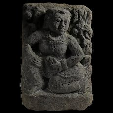 Huge Early Buddhist / Hinduist stone carving, 8th. cent. AD