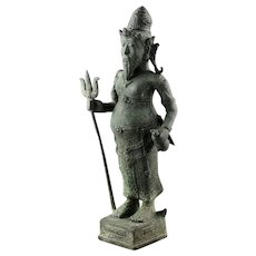 Museum quality 34 cm. Hindu bronze figure of Agastya, 9th. cent AD