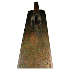 Finely decorated Danish Wooden mangleboard, year 1804