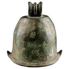 Superb Indonesian Majapahit bronze Elephant Bell, c. 12th. cent