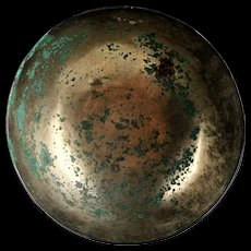Beautiful incised Sassanian silver bowl, ca. 300 AD to 600 AD