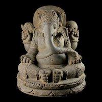 Important Massive Vulcanic figure of Ganesha, ca. 10th.-11th. century
