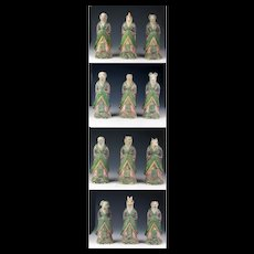 Chinese Ming Dynasty collection of 12 Zodiac pottery figures 1368-1644