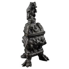A magnificent German Renaissance bronze Bear inkwell, ca. 1600!