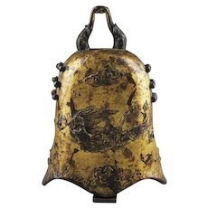 Important Chinese gilt bronze Bell, Manchurian Jin Dynasty, 1115–1234