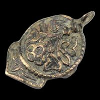 Interesting large Dove shaped silver pendant, Byzantine-Medieval!