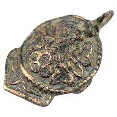 Interesting large Dove shaped silver pendant, Byzantine-Medieval!