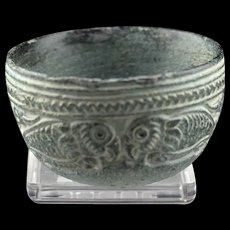Splendid Bactrian Chlorite stone jar w Parrots 3rd. mill. BC