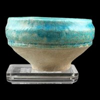 Superb Islamic pottery jar Torquise glaze with rich gold iridescence!