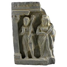 An exceptional Gandhara, scist relief, Greco-Roman style, 1st. cent