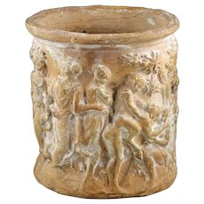 Very rare Roman pottery vessel with Bacchanalia, Knidian ware, 1st. cent. AD