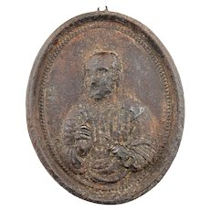 Renaissance Iron relief of sct. Peter, Germany, 14th.-16th. cent