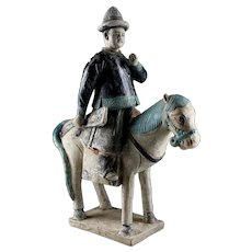 Ming Dynasty tomb pottery officer Horseman w TL test!