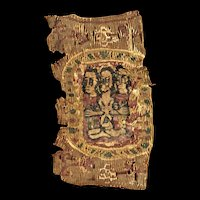 Byzantine textile w the image of Christ, Coptic Egypt, 6th.-7th.cent.
