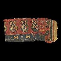 Fine Byzantine multi-coloured textile, Coptic Egypt, 6th.-7th. cent.