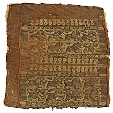 Spendid Roman - Byzantine textile w. lions, Coptic, c. 4th. -6th cent.
