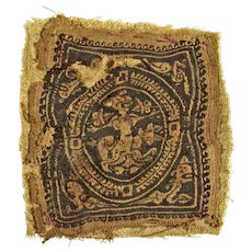 Interesting Late Roman textile w triton and mermaids, 4th.-6th. cent.