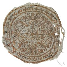 Choice Late Roman-Byzantine Textile Roundel from Tunic, 5th.-7th. cent
