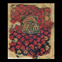 Byzantine portrait textile, Coptic Egypt, 6th.- 7th. cent. AD