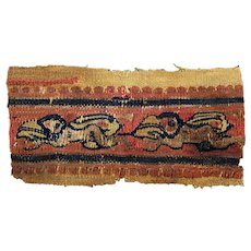 Lovely Late Roman Textile Clavus with naked nymphs, 4th.-6th. cent.