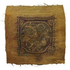High quality figural Tunic Tabula textile, Roman 4th.-6th. cent.