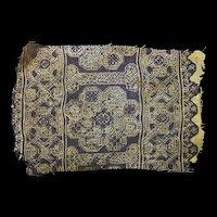 Islamic Umayyad-Abbasid textile w interlaced patterns, 7th.-9th. cent.