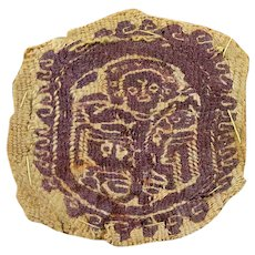 Orbiculus textile insertion w figures, Byzantine 6th.-7th. cent. AD