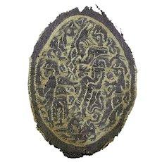 High quality Roman textile brocaded Orbiculus, 4th.-6th. century AD