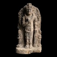 Majapahit stone Stele Emperor Raden Wijaya as Harihara, 14th. cent. AD