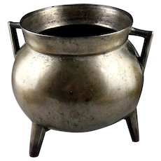 Attractive European Flemish Gothic bronze cauldron, 1500-1550