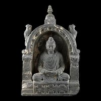 High quality Scist stone stele of Buddha, Gandhara, ca. 2nd.-3rd. cent. AD