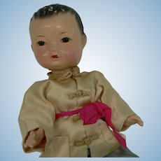 Vintage composition China Boy doll all original.