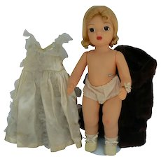 Vintage hard plastic Terri Lee doll 16 inches tall and all original.