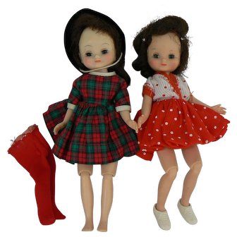 American Character Betsy McCall doll and xtra doll old look.
