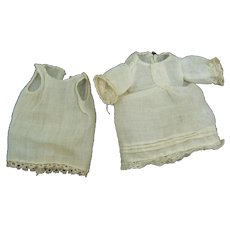 Tiny all Bisque doll outfit with slip OLD