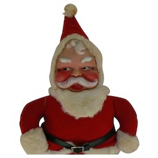 Vintage 50's Stuffed Santa Rubber Face doll and so cute for Christmas.