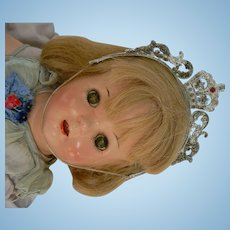 Vintage Composition doll with Crown all original, Ideal, Alexander...Princess Elizabeth CUTE.
