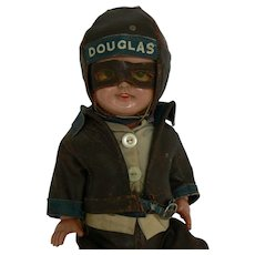 VERY Rare Douglas Motorcycle Advertising Doll all Original MUST SEE